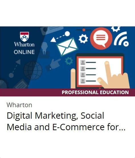 Digital And Social Media Courses by Certification Course By Wharton On Edx Digital