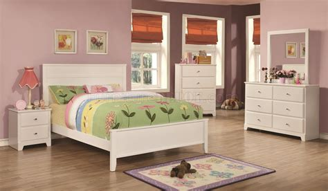 ashton kids bedroom pc set  white  coaster