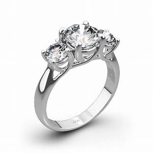 3 stone trellis diamond engagement ring 1025 With 3 stone wedding ring