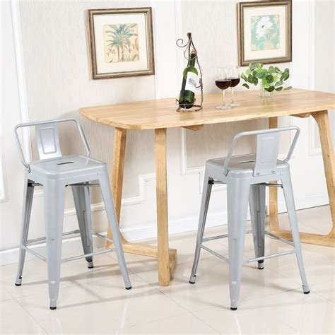Counter Height Bar Stools Set Of 4 by Low Back Indoor Outdoor Counter Height Stools Set Of 4