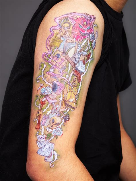alice  wonderland tattoos designs ideas  meaning