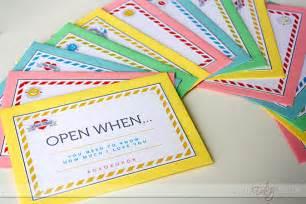 quot open when quot letters