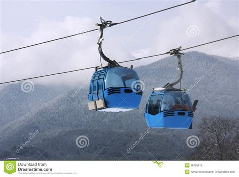 Cable Car Ski Lift Stock Photography