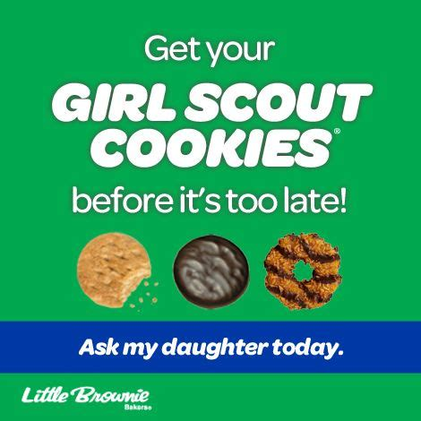 Girl Scout Cookie Memes - 15 best girl scout cookie social media marketing images on pinterest cookie time gs cookies