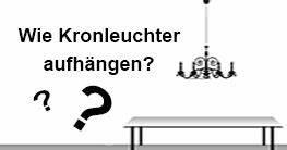 Kronleuchter Aufhängen Anleitung : kronleuchter ratgeber deckenbeleuchtung online finden ~ Lizthompson.info Haus und Dekorationen