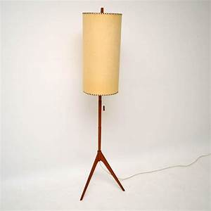 Danish retro teak floor lamp vintage 1960s for Retro floor lamp adelaide