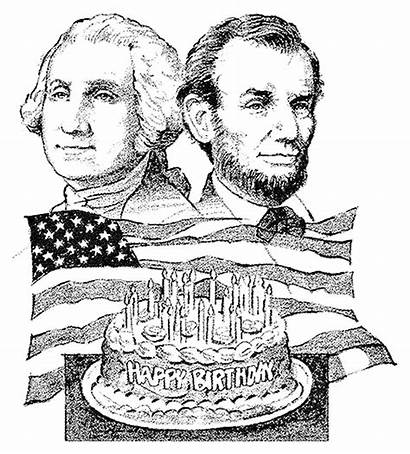 Presidents Coloring Lincoln Washington Pages Birthday Happy
