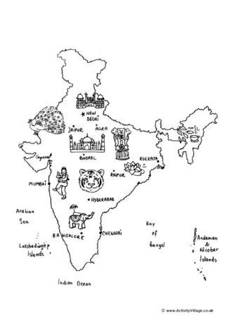 india coloring pages  indian history holidays
