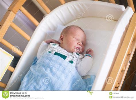 Newborn Baby Boy In Hosptal Cot Stock Photo Image 62608358