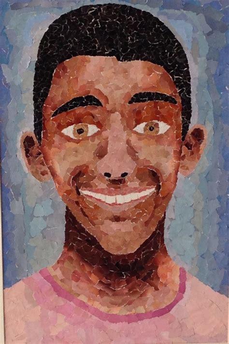 torn paper  portraits lisa offiler