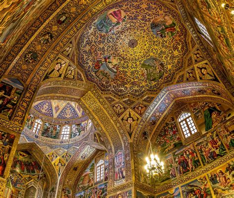 Vank Church, Esfahan, Iran - The beautiful interior of the