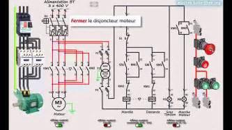 Armoire Electrique Triphasée by D 233 Marrage Direct 2 Sens De Marche D Un Moteur Asynchrone