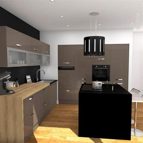 ikea cuisine plan travail ilot central bois hotte aspirante table grey kitchen ideas interior
