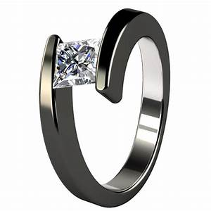 Black metal engagement ring black titanium rings for Wedding ring black titanium