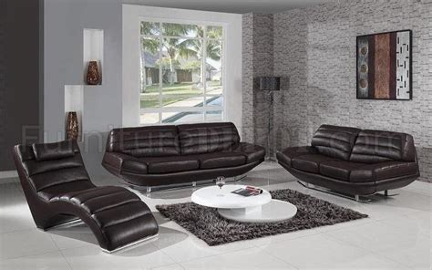 Espresso Leather Loveseat by Espresso Leather Modern 3pc Sofa Loveseat Chaise Set
