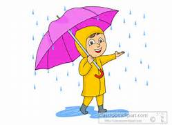 Umbrella in Rain Storm...