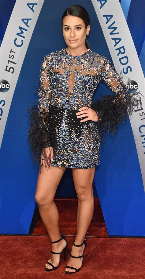 Cmas Glee's Lea Michele Wows In Groinskimming Mini