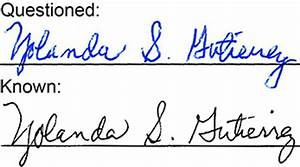 hawaii handwriting With questioned document examination forensic