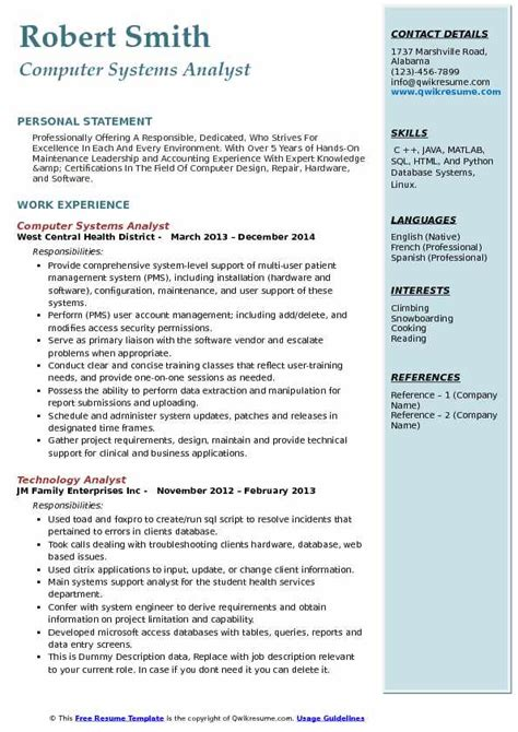 Computer Systems Analyst Resume Samples  Qwikresume. Free Template Resume. Resume Examples For Receptionist. Summary For Resume Examples. Linkedin Resumes. Professional Resume Cv Template. Hostess On Resume. How To Write A Good Professional Summary For A Resume. What Is A Cover Letter On A Resume