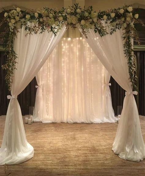 white indoor wedding ceremony wedding ideas diy