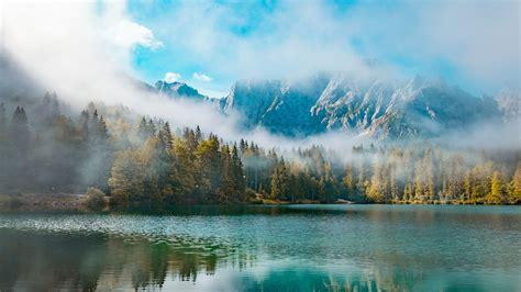 Wallpaper 4k Desktop by Morning In Mountains Lake 4k Wallpaper Mountains