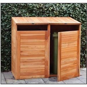 Cache Poubelle Brico Depot : cache poubelles double en bois dur achat vente cache ~ Dailycaller-alerts.com Idées de Décoration