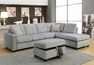 belville beige sectional and ottoman 52705 With grey sectional sofa