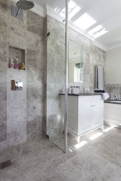 tundra grey honed marble tiles bathroom floors walls