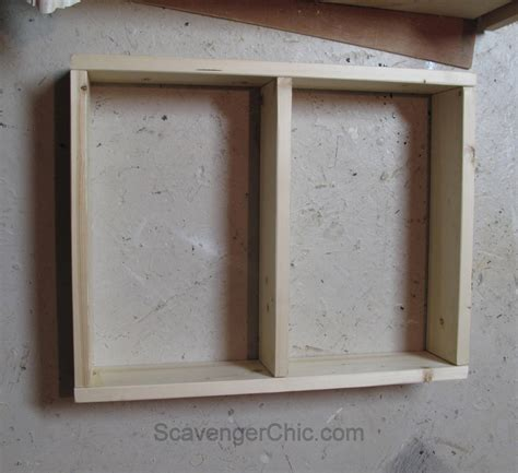 diy wall cabinet create a medicine cabinet from a mirror diy scavenger chic