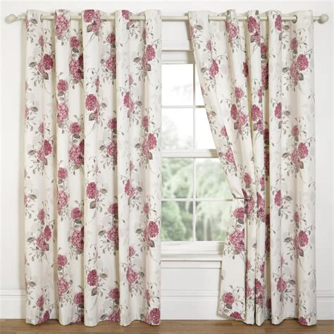 floral print drapes hydrangea floral print eyelet curtains pink