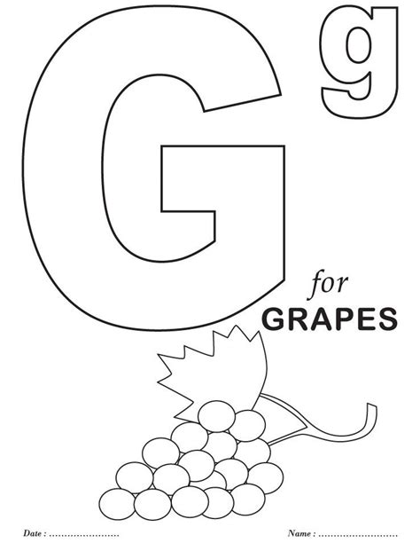 Coloring Letter G by Printables Alphabet G Coloring Sheets Colouring Activity
