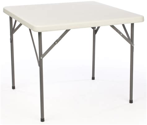 Square Folding Card Table  Plastic Top With Folding Legs