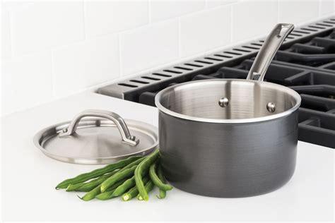 viking hard stainless cookware set  piece cutlery