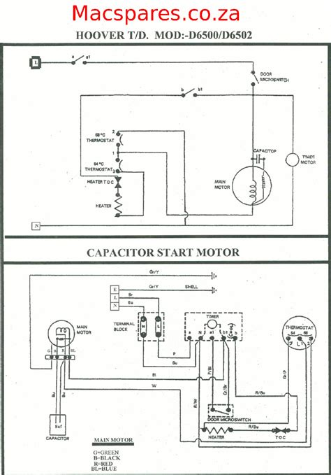 Wiring Diagrams Tumble Driers Macspares Wholesale
