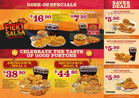 80830 Food Coupons South Africa by Popeyes Menu Deals 2018 Lamoureph