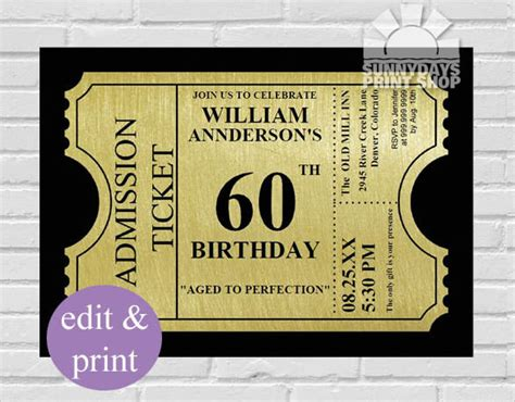 60th birthday invitation templates 23 60th birthday invitation templates psd ai free premium templates