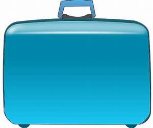 Blue Suitcase Clip Art at Clker.com - vector clip art ...