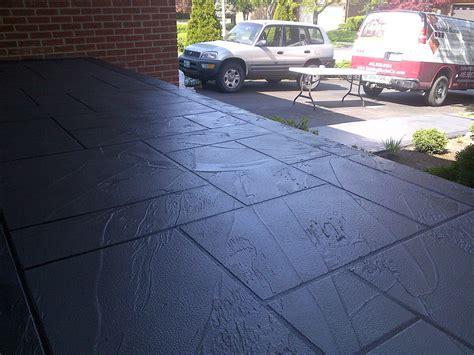 coloured concrete front porch restoration etobicoke