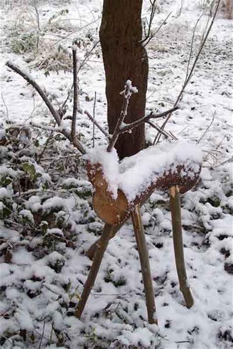 wooden reindeer garden ornament farming friends