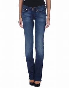 7 for all mankind Denim Pants in Blue | Lyst