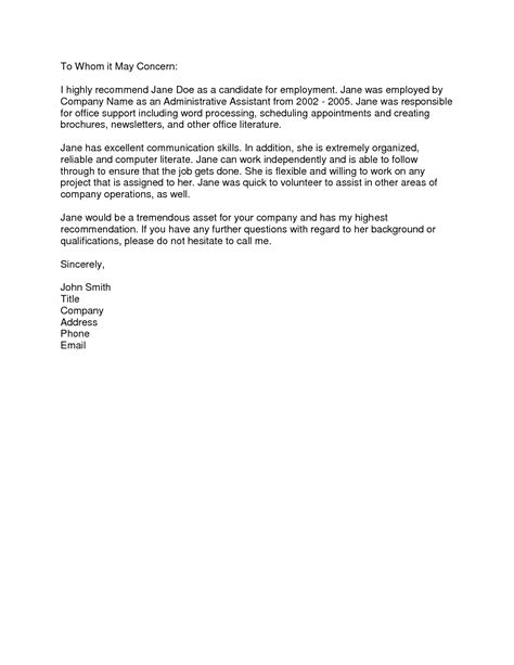 reference letter template from employer reference letter from employer sle the letter sle