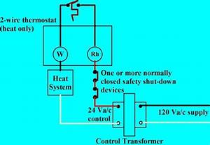 Heat Only Thermostat Wiring Diagram