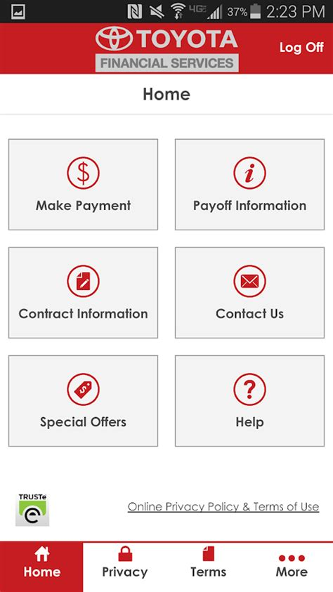 toyota pay my mytfs toyota financial android apps on google play