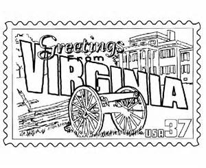 State Stamp Coloring Pages