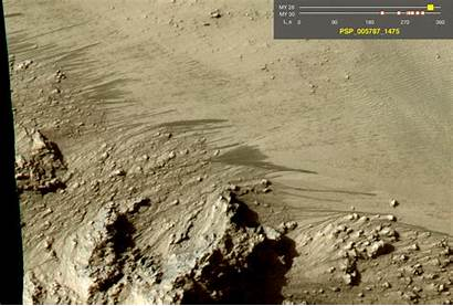 Water Mars Nasa Flowing Crater Discovered Surface