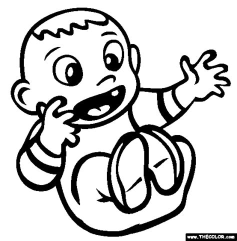 baby  coloring pages page