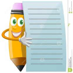 Pencil and Paper Notes Clip Art