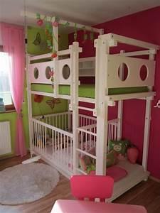 Etagenbett Für Kinder : etagenbett mit babybett bei oli niki online bestellen ~ Frokenaadalensverden.com Haus und Dekorationen