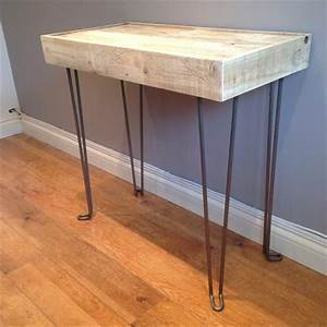 DIY Pallet Wood Side Table with Hairpin Legs Pallet