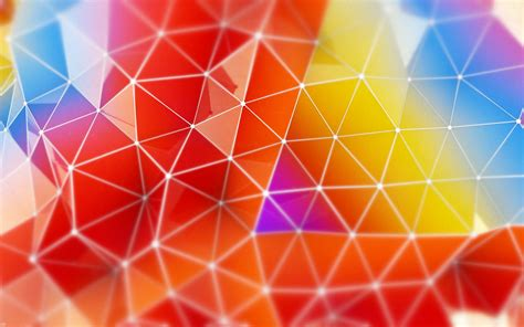 wallpaper abstract colorful triangles  abstract